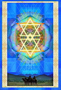 Chalicebridge.com Posters - Chalice Synthesis Star over Three Kings Holiday Card  VI Lt Poster by Christopher Pringer