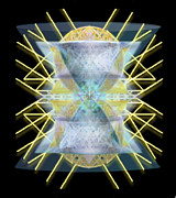 Chalicebridge.com Posters - Chalices from Pi Sphere GoldenRay II Poster by Christopher Pringer