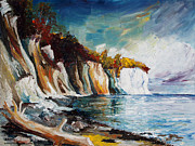 Insel Prints - Chalk Cliffs On The Island Ruegen In Fall Print by Barbara Pommerenke