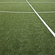 Soccer Field Framed Prints - Chalk Lines on a Soccer Field Framed Print by Jetta Productions, Inc