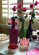 Champagne Glass Art - Chalkboard Paint Bottles by Anna Villarreal Garbis