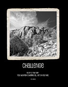 Obstacles Posters - Challenge Poster by Bonnie Bruno