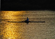 Rower Digital Art Prints - Challenge Yourself Print by Bill Cannon