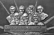 Plaque Posters - Challenger Crew Poster by David Lee Thompson