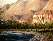 Salmon River Idaho Paintings - Challis Idaho  by Tom Siebert