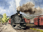 Locomotive Paintings - Chama Arrival by Sam Sidders