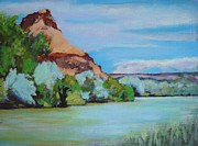 Abiquiu Paintings - Chama River Outside Abiquiu by Richard  Willson