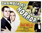Lobbycard Prints - Chamber Of Horrors Aka Door With Seven Print by Everett