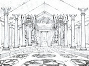 Chamber Of The Lamassu Print by Curtiss Shaffer