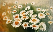 Field Tapestries - Textiles - Chamomile Field by Anna Brokowska