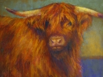 Cattle Pastels Framed Prints - Chamomile Framed Print by Susan Williamson