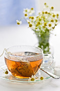 Serve Metal Prints - Chamomile tea Metal Print by Elena Elisseeva