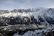 Chamonix Framed Prints - Chamonix village in the French Alps Framed Print by Pierre Leclerc