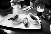 Gastro Framed Prints - Champ And Sausages With Guinness For Lunch In A Pub In Ireland Framed Print by Joe Fox