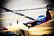 Indy Car Prints - Champ Car Driver Print by Darcy Michaelchuk