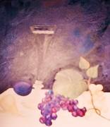 Champagne And Fruit Print by Alanna Hug-McAnnally