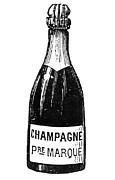 Champagne Metal Prints - Champagne Bottle Metal Print by Granger