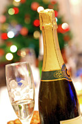 Xmas Prints - Champagne Print by Carlos Caetano
