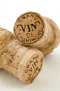 Food And Beverage Prints - Champagne corks Print by Frank Tschakert