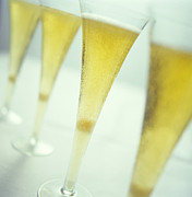 Champagne Glasses Photo Posters - Champagne Poster by David Munns