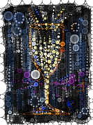 Fizz Art - Champagne Flute by Russell Pierce