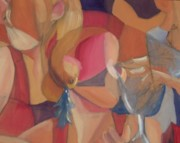 Interaction Paintings - Champagne by Gina Fulcher