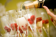Wine Pouring Prints - Champagne Print by Kati Molin
