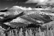 Rocky Mountains Prints - Champagne Snowscape Print by Kevin Munro