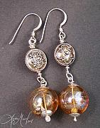 Food And Beverage Jewelry - Champagne Wishes Earrings by Lydia Muell