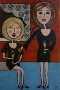 Champagne Paintings - Champers Darling by Elizabeth Langreiter