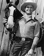 1950s Movies Photo Metal Prints - Champion And Gene Autry Metal Print by Everett