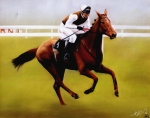Race Pastels - Champion Hurdle - Winner - Morley Street by Miroslav Stojkovic