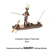 Benjamin Bullins Art - Champion Kayak Fisherman by Benjamin Bullins