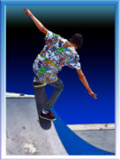 Skater Digital Art Posters - Champion Skater Poster by Terry Anderson