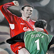 Liverpool Football Prints - Champions League semi final 2005 Print by Mark  Jenkins