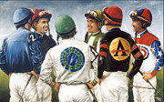 Jockey Paintings - Champions by Thomas Allen Pauly