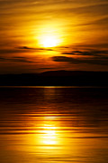Lake Champlain Framed Prints - Champlain Sunset Framed Print by Mike Horvath