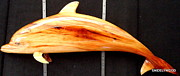 Dolphin Sculpture Originals - Champor Wood Porpoise by Douglas Snider