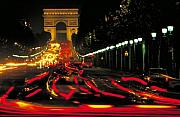 Traffic Prints - Champs Elysee in Paris Print by Carl Purcell