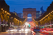 Elysees Posters - Champs-Elysees Poster by Mircea Costina Photography