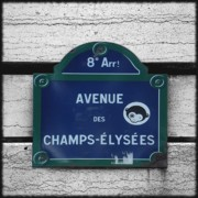 Elysees Posters - Champs Elysees Poster by Roberto Alamino