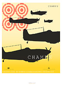 Jets Mixed Media Framed Prints - Champs Framed Print by Yagil Weiler