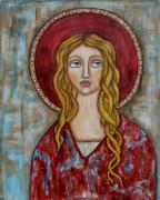 Christian Art . Devotional Art Painting Prints - Chamuel Print by Rain Ririn