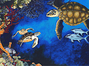 Scuba Paintings - Chance Encounter by Sandra Camper