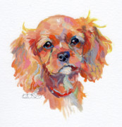 Spaniel Puppy Paintings - Chance by Kimberly Santini