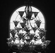 Anna Villarreal Garbis Metal Prints - Chandelier Metal Print by Anna Villarreal Garbis