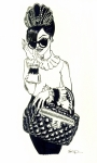 Pen Paintings - Chanel Bag by SKIP Smith