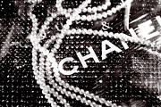 Black-and-white Posters - Chanel Poster by Lisa Eryn