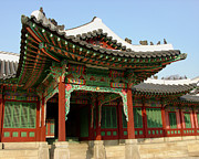 Hand-built Prints - Changdeokgung Palace_Full Front_Seoul Korea Print by Jon William Lopez