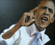 Obama Paintings - Change by Edith Hunsberger